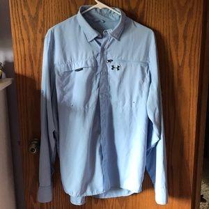 Men's Under Armour button up shirt